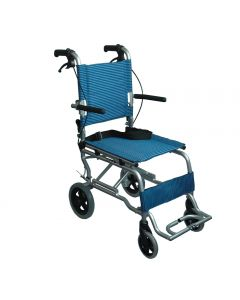 Esco Travel Chair WCH 5130sd Plain Blue With Carrying Bag