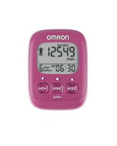 Omron HJ-325 Walking Style Pedometer Pink