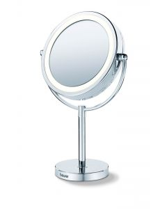 Beurer BS69-Illuminated Cosmetics Mirror 17cm(Mains operated) Silver
