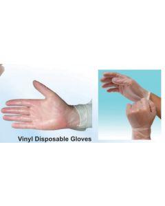 Disposable Vinyl Glove Medium Size 100s x 10 boxes (10 boxes in a carton)