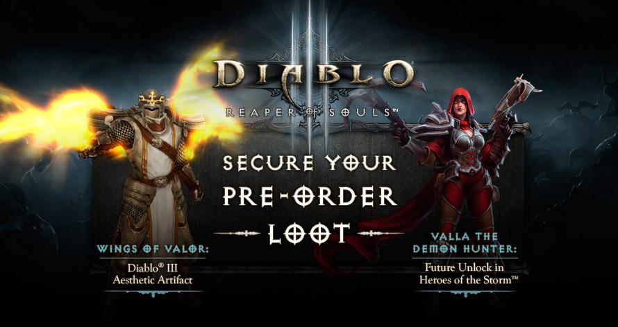 Reaper of Souls Preorder Loot