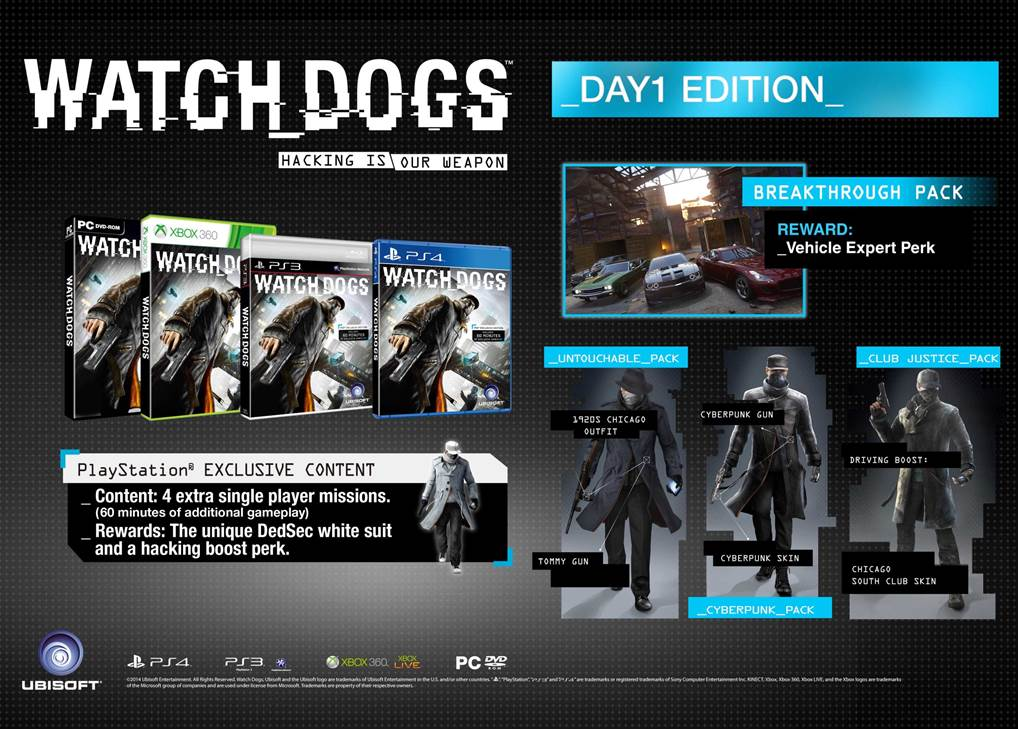 Watch Dogs Day 1 Edition